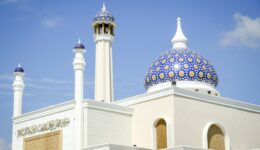 Rooftop and dome of the Brunei international airport mosque