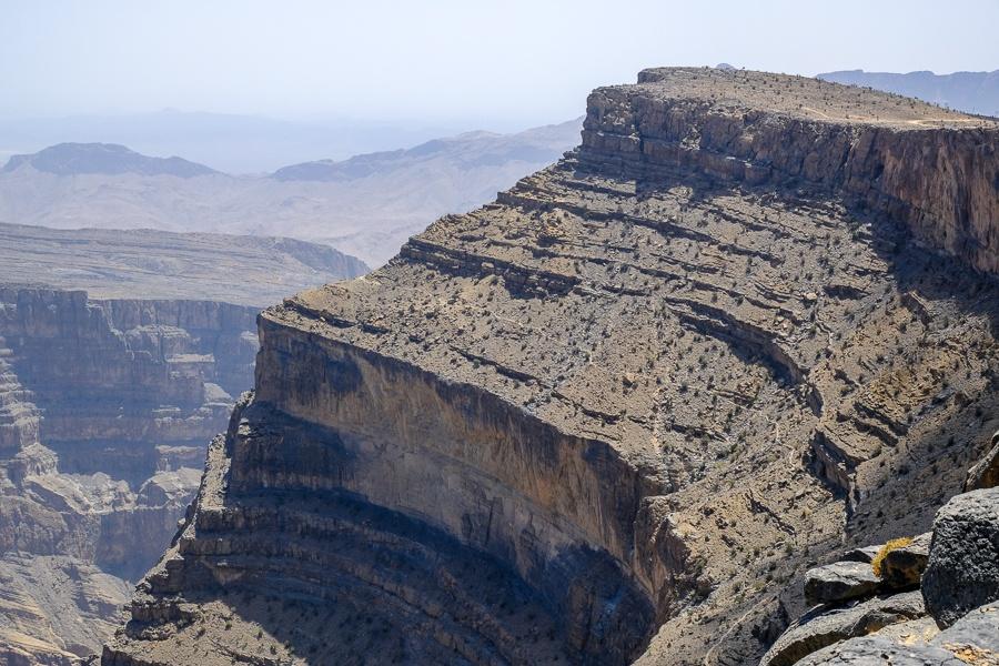 Cliffs at Wadi Ghul, the Grand Canyon of Oman