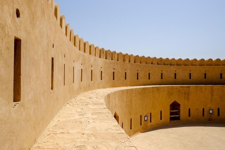 Inside the wall at Al Hazm Castle in Oman