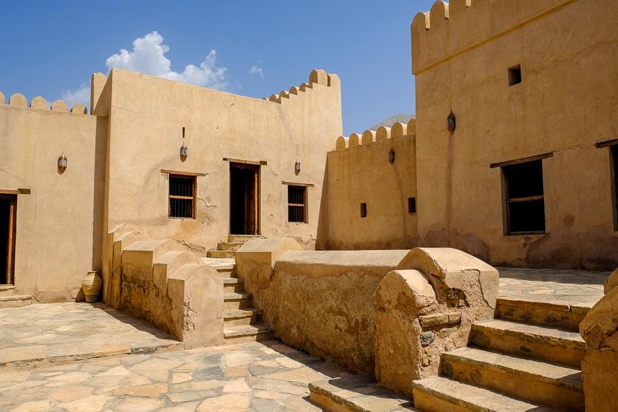 Living quarters of Nakhal Fort in Oman