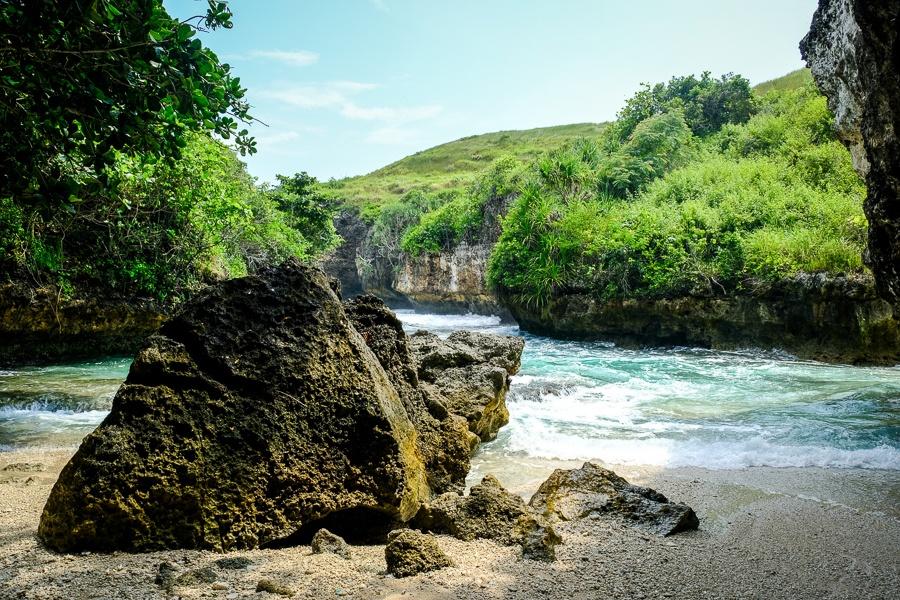 Lumangan Beach in Nusa Penida Bali