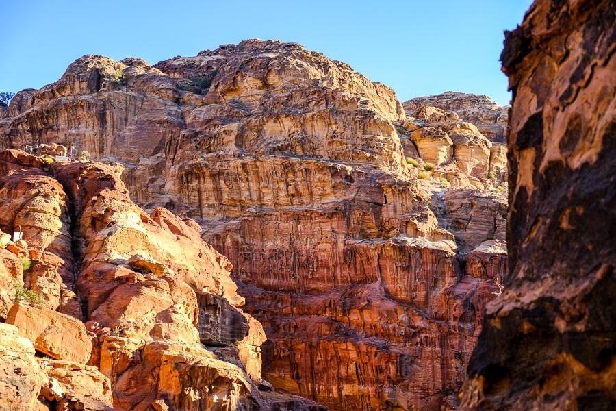 Rocky cliffs around Petra, Jordan