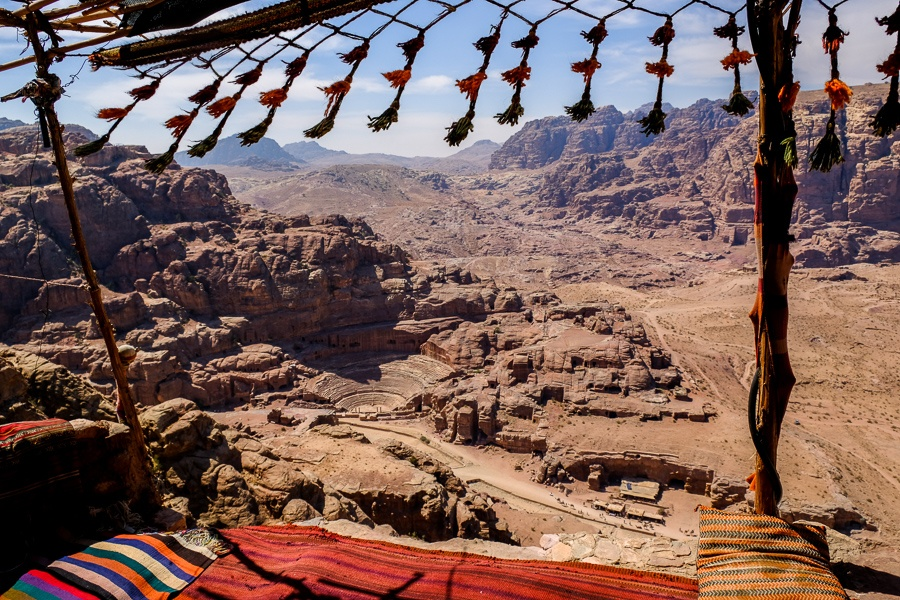 View from a Bedouin tent above Petra, Jordan