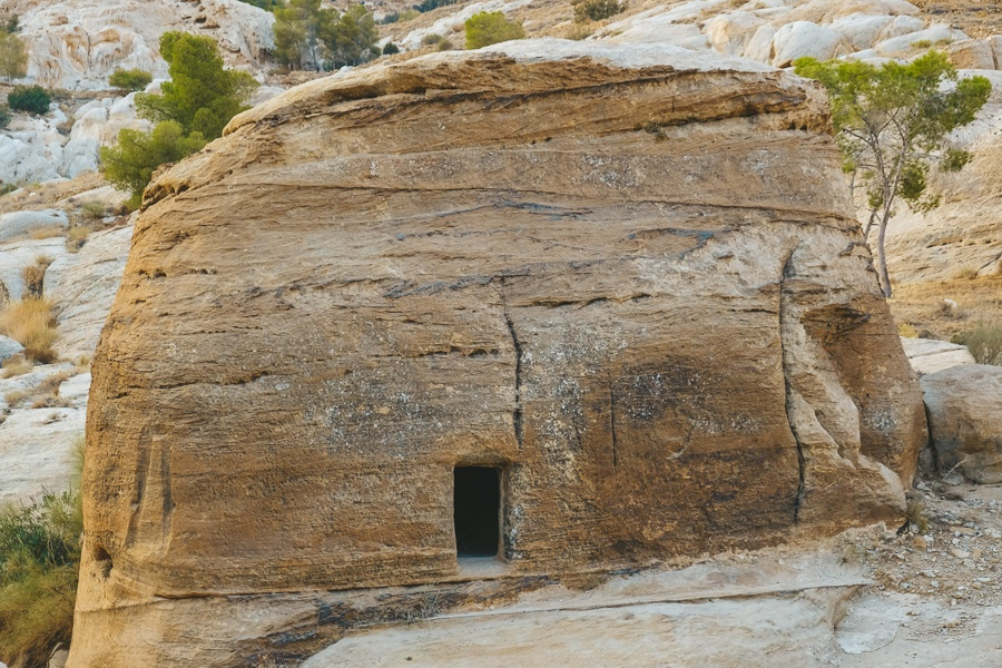 Small rock house on the road to Petra, Jordan