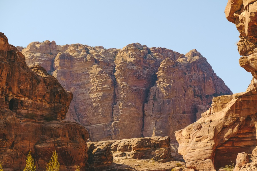 Mountains and cliffs in Petra, Jordan