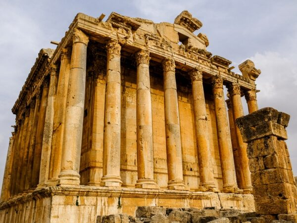 Temple of Bacchus at the Baalbek ruins in Lebanon