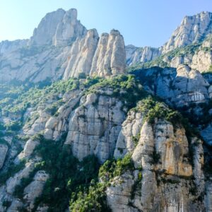 Front mountains at Montserrat, Spain