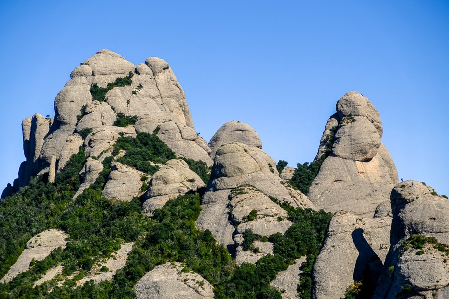 Mountain peaks at Montserrat National Park in Spain