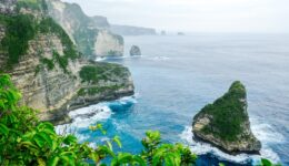 Sea cliffs at Banah Cliff Point in Nusa Penida, Bali