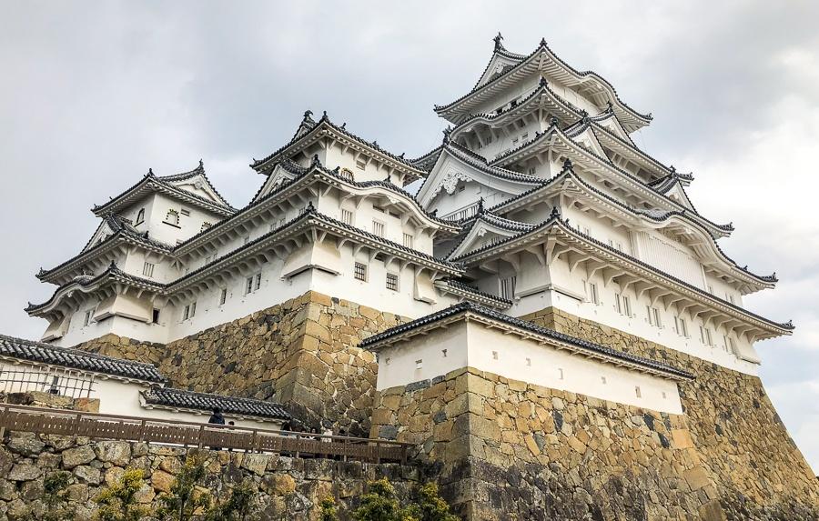 Main keep tenshu at Himeji Castle in Japan