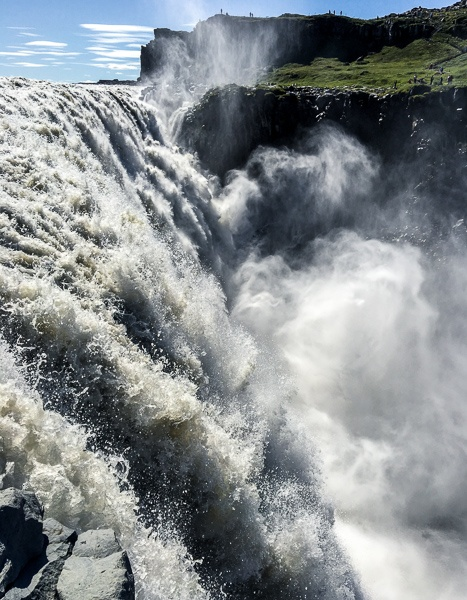 Dettifoss Waterfall up close in Iceland