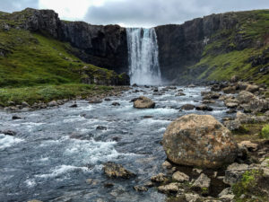 Gufufoss Waterfall and river in Iceland