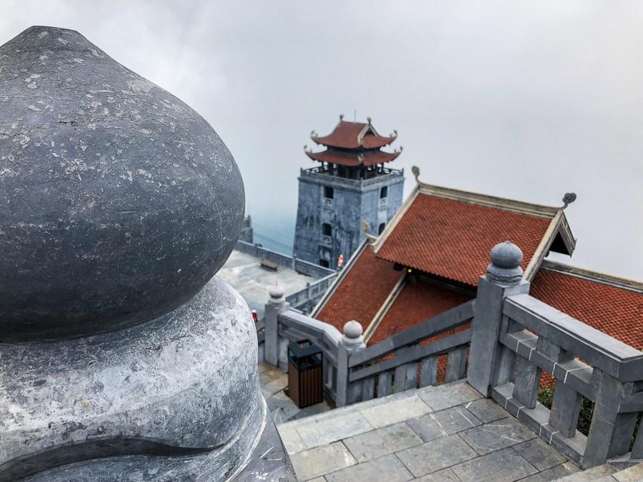 Stone stairway at Fansipan mountain in Sapa, Vietnam