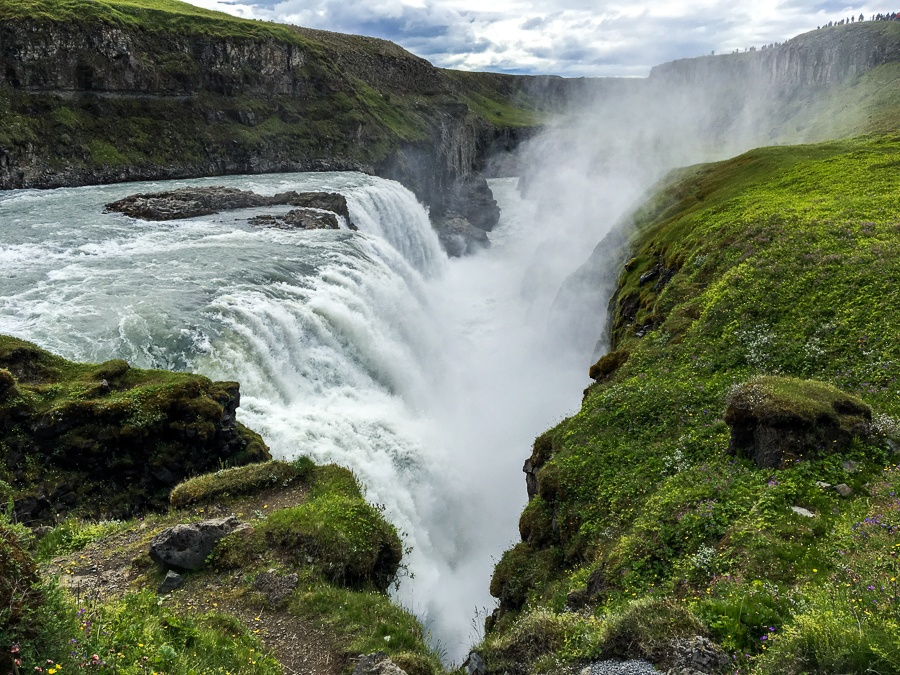 Ravine at Gullfoss Waterfall in Iceland