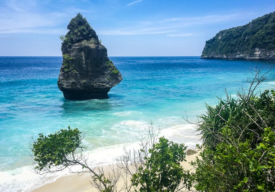 Suwehan Beach in Nusa Penida, Bali