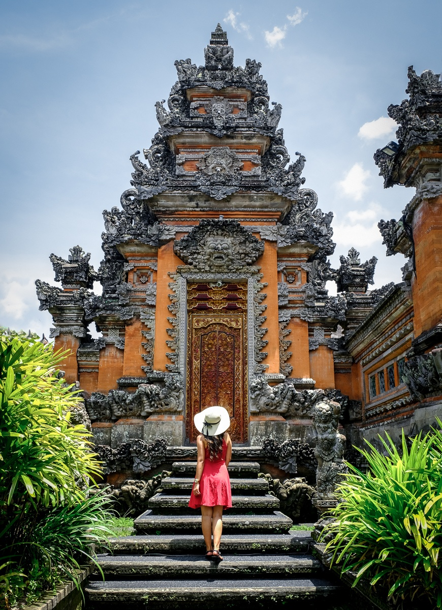 My woman at Pura Saraswati Temple in Ubud Bali