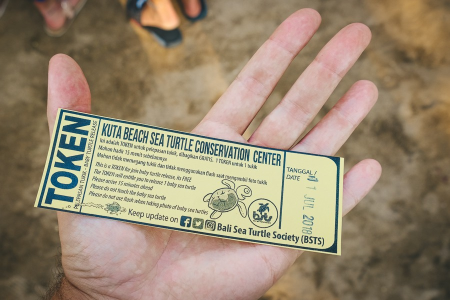 Ticket for the BSTS Sea Turtle Release in Kuta, Bali