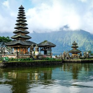Floating lake temple at Pura Ulun Danu Beratan in Bedugul, Bali