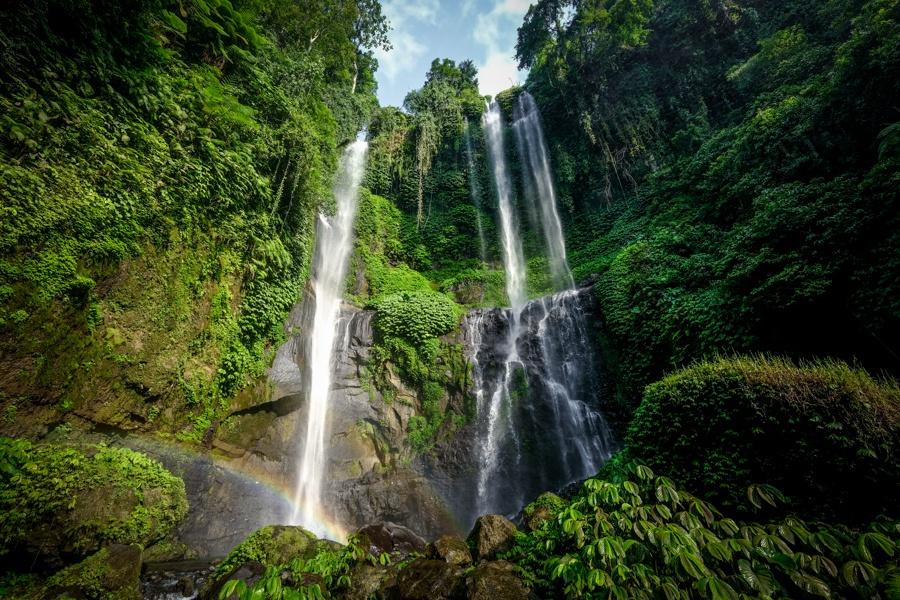 Bali waterfall in Indonesia