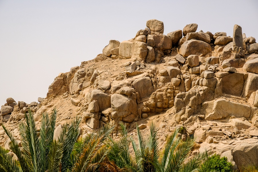 Rocky hill and boulders in Egypt