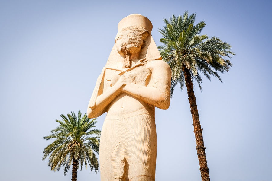 Big statues of Rameses II at Karnak Temple in Luxor, Egypt
