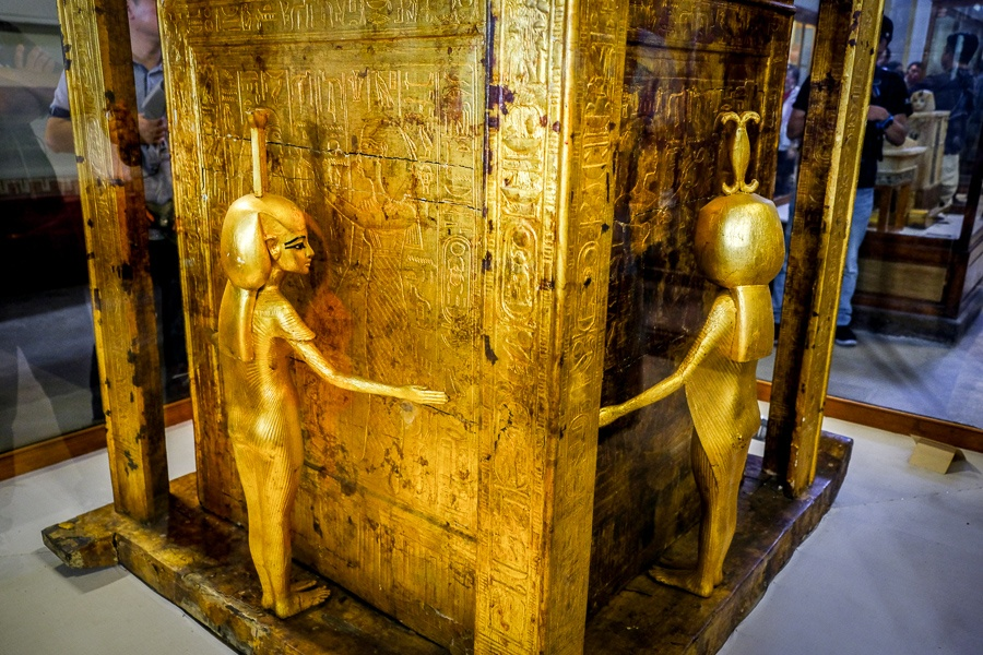Gold artifact on display at the Egyptian Museum in Cairo, Egypt