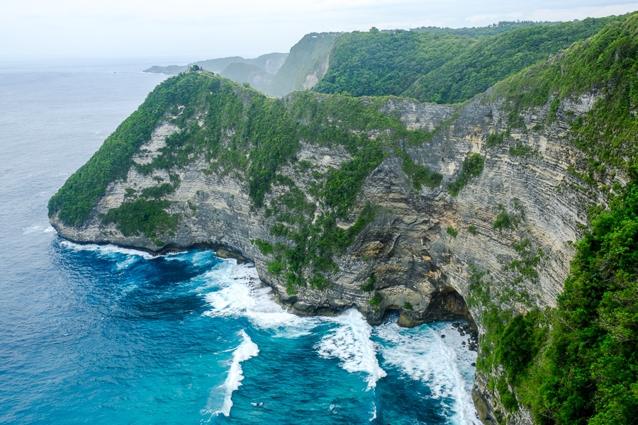 Pererenan cliff in Nusa Penida, Bali