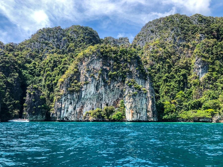 Phi Phi Don island cliffs in Krabi, Thailand