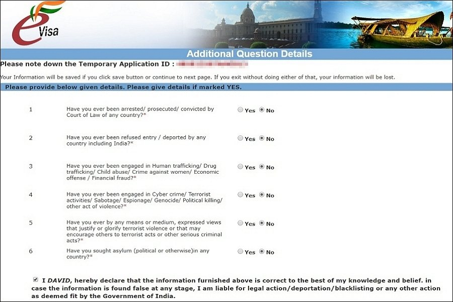 Application guide and steps on page 5 for Indian visa online