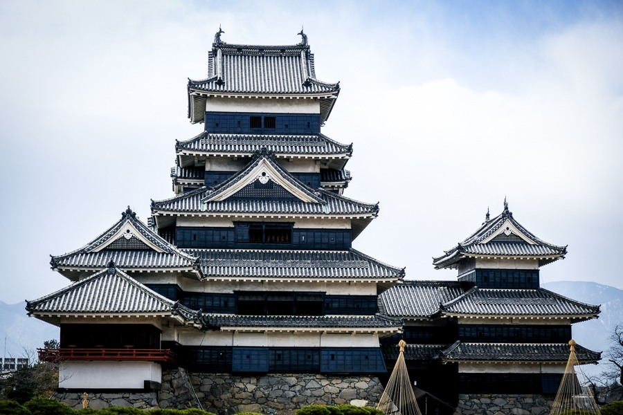 Matsumoto Castle keep in Japan