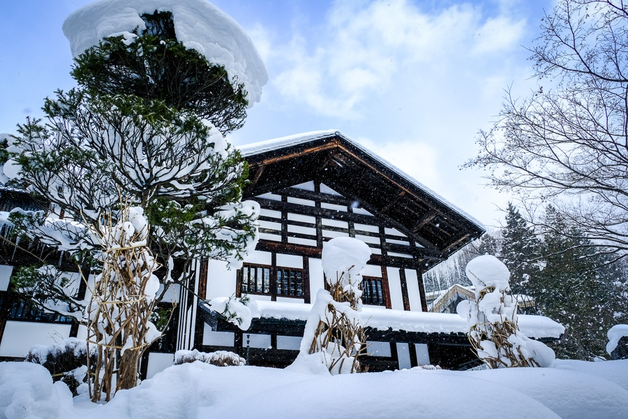 Snowy house in Nagano Japan