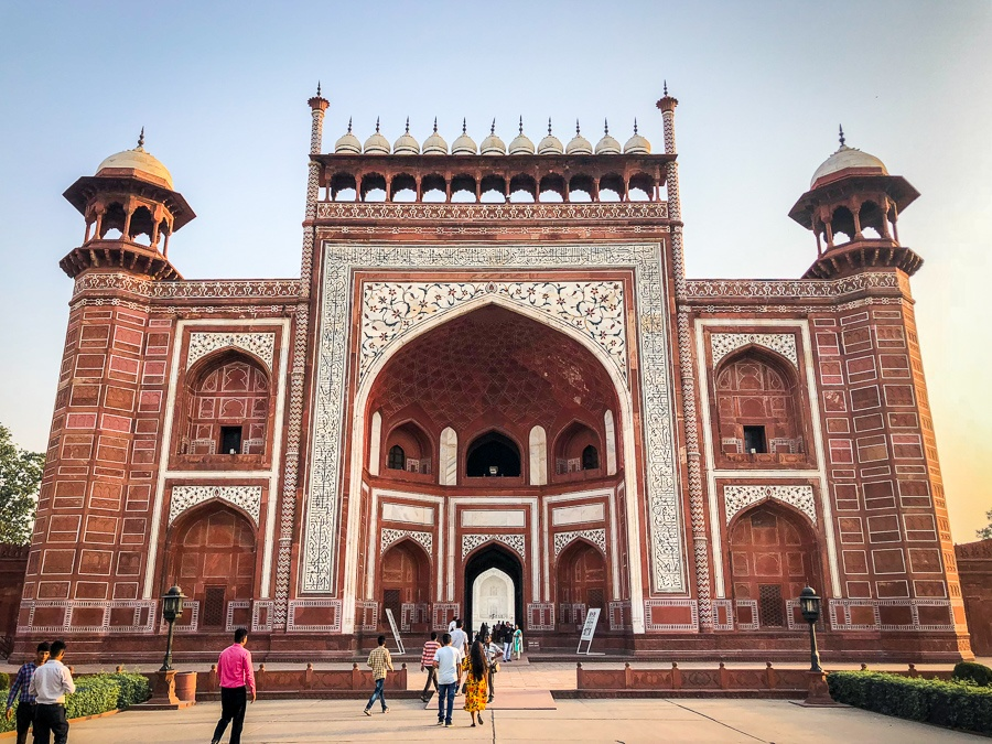 Great Gate at the Taj Mahal in Agra, India