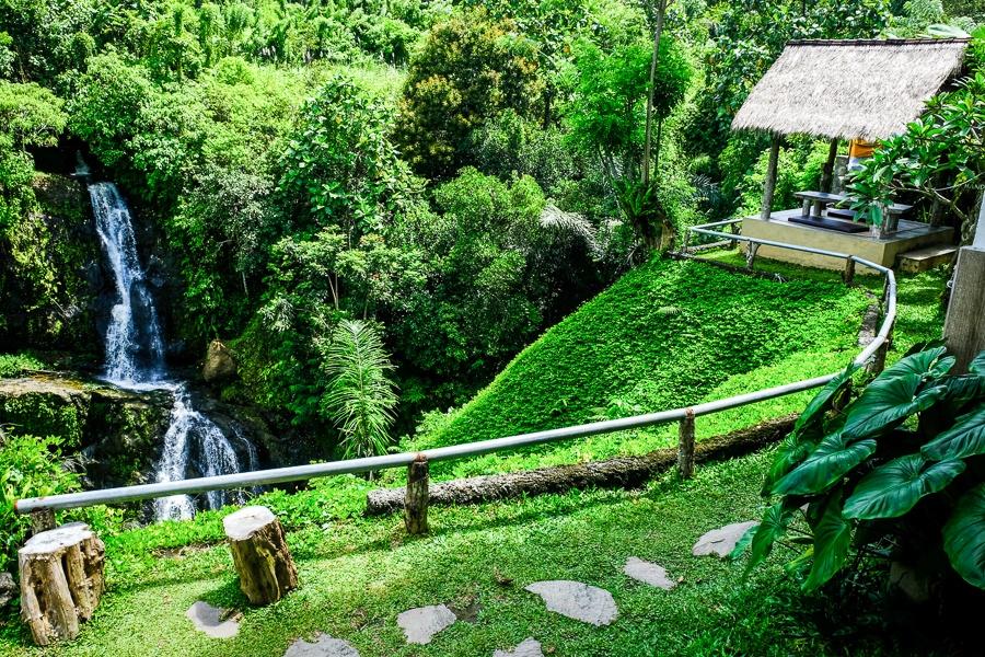 Layana Warung and waterfall in Bali