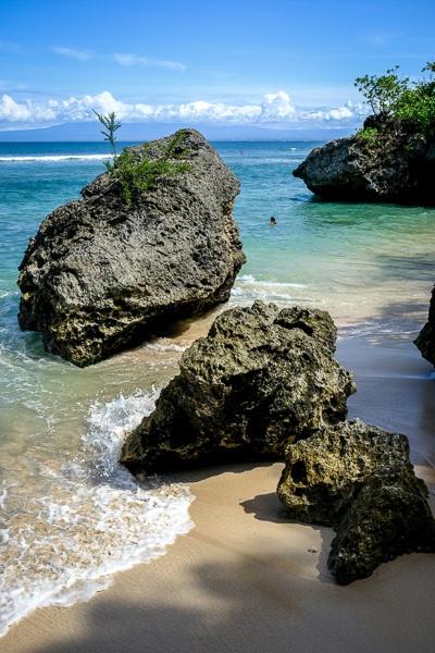 Sea rocks at Padang Padang Beach in Bali