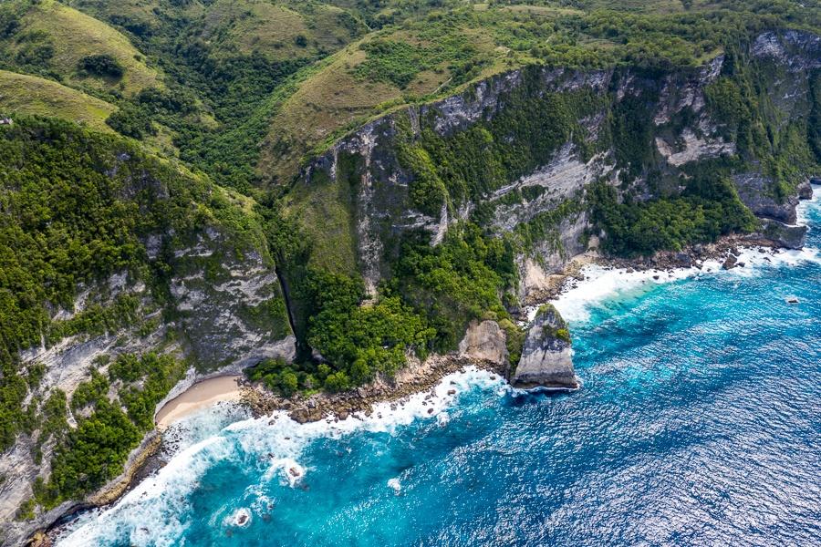 Drone pic of Batu Siha cliffs