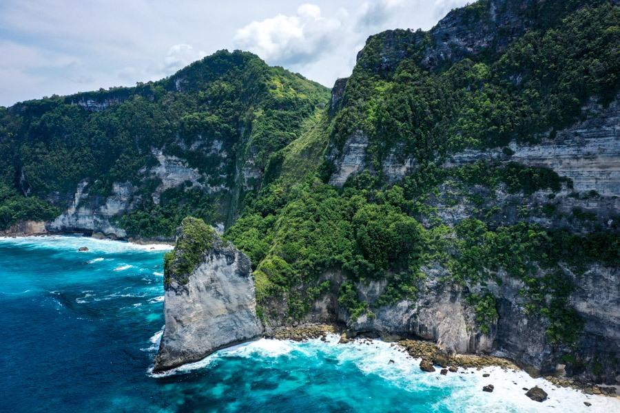 Batu Siha Beach drone picture