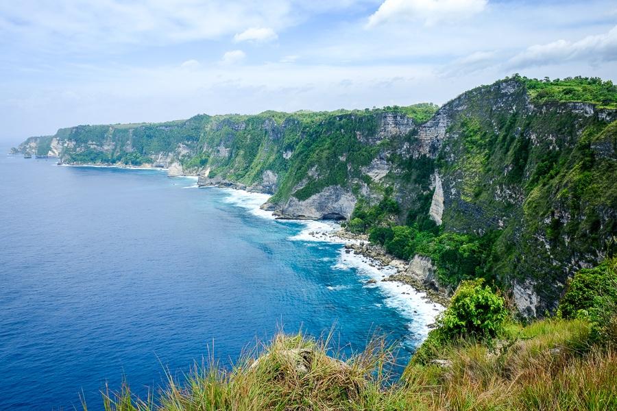 Cliffs in Nusa Penida