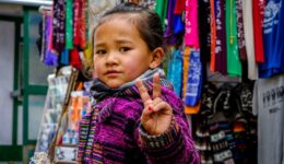 Nepali child in Namche Bazaar