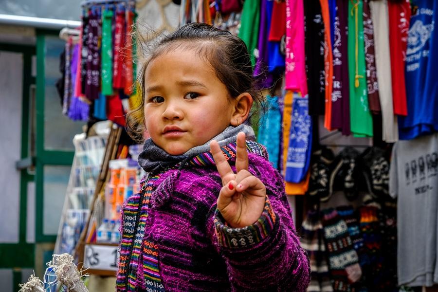 Nepali child in Namche Bazaar