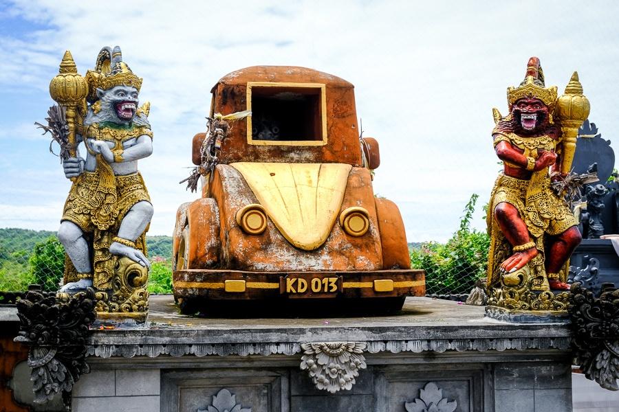 Pura Paluang car temple in Nusa Penida Bali