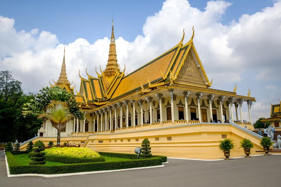 Phnom Penh Royal Palace in Cambodia