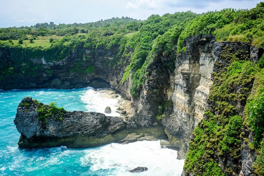 Korawa Beach viewpoint in Nusa Penida Bali