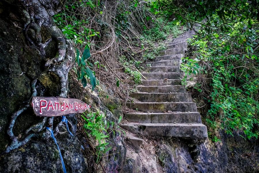 Entrance to Pandan Beach trail in Nusa Penida Bali