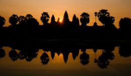 Angkor Wat sunrise and pool reflection