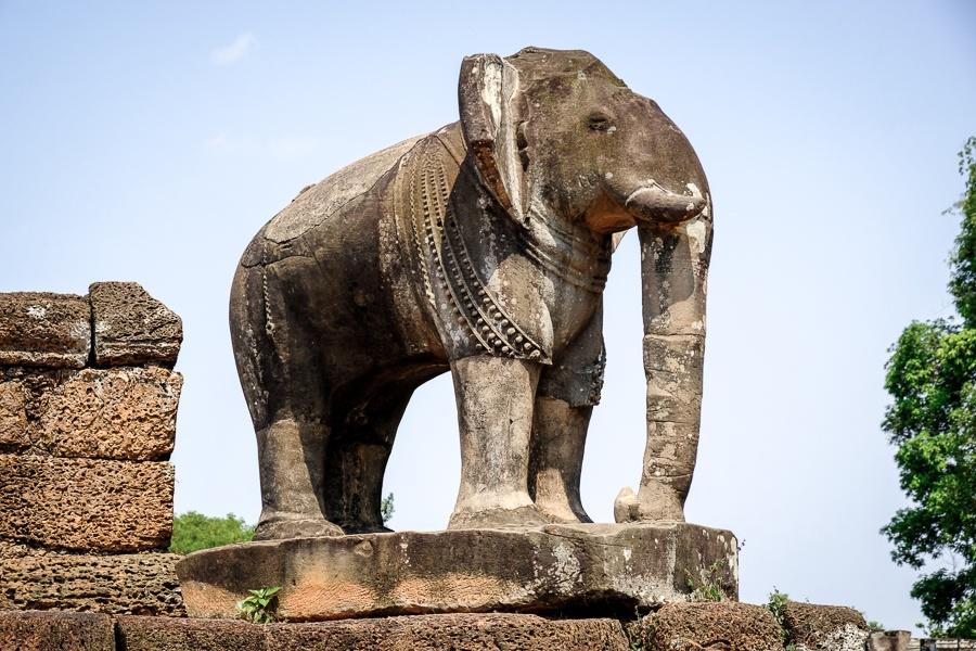 East Mebon elephant statue