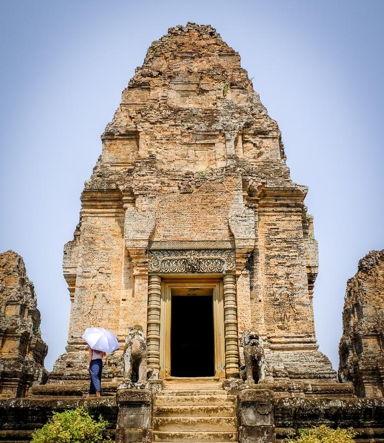 Orange temple in Angkor Wat Cambodia