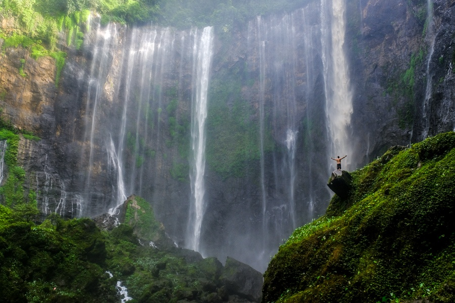 Tumpak Sewu Waterfall in East Java Indonesia
