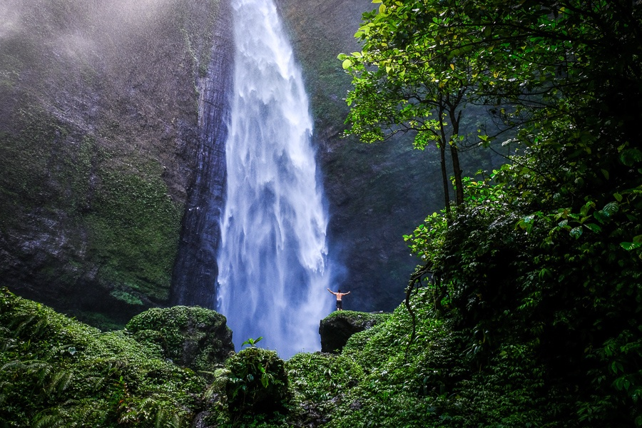 Kabut Pelangi Waterfall in East Java Indonesia