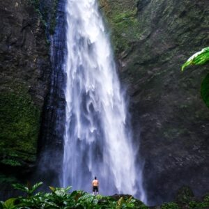 Kabut Pelangi Waterfall in East Java Indonesia