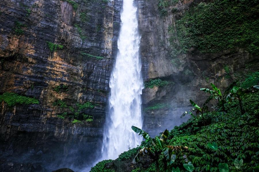 Kapas Biru Waterfall in East Java Indonesia
